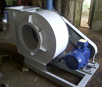 centrifugal fan pully dust collector