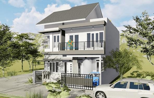 BAGUSRUMAHKU - Jasa Desain Visual 3D Render Fasad Rumah