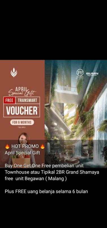 Promo Buy One Get One Limited Unit Grand Shamaya Surabaya Pusat