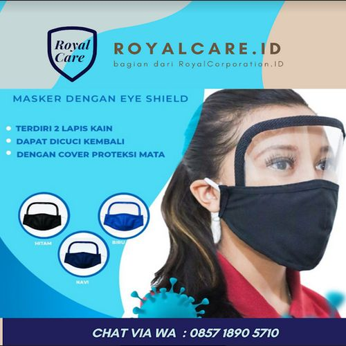 RoyalCare.ID Faceshield + Masker