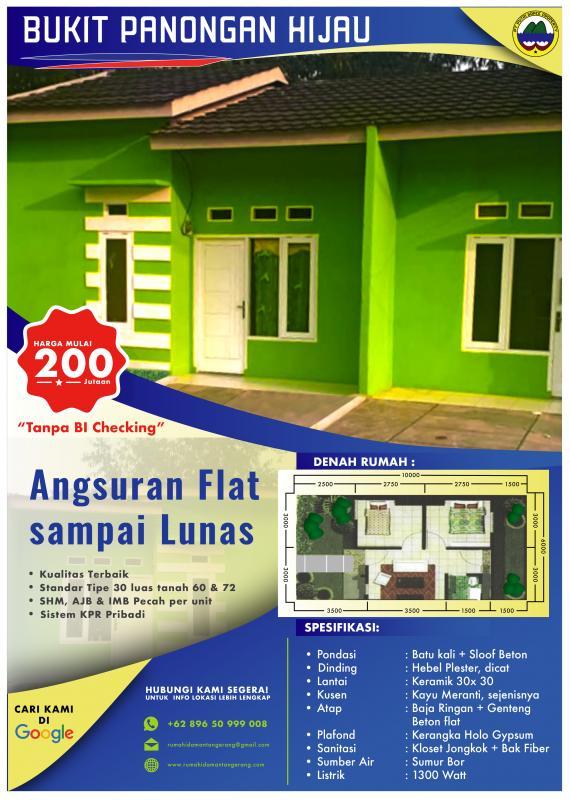 menyediakan kavling dan rumah cluster dengan harga murah KPR Tanpa bank di Tangerang