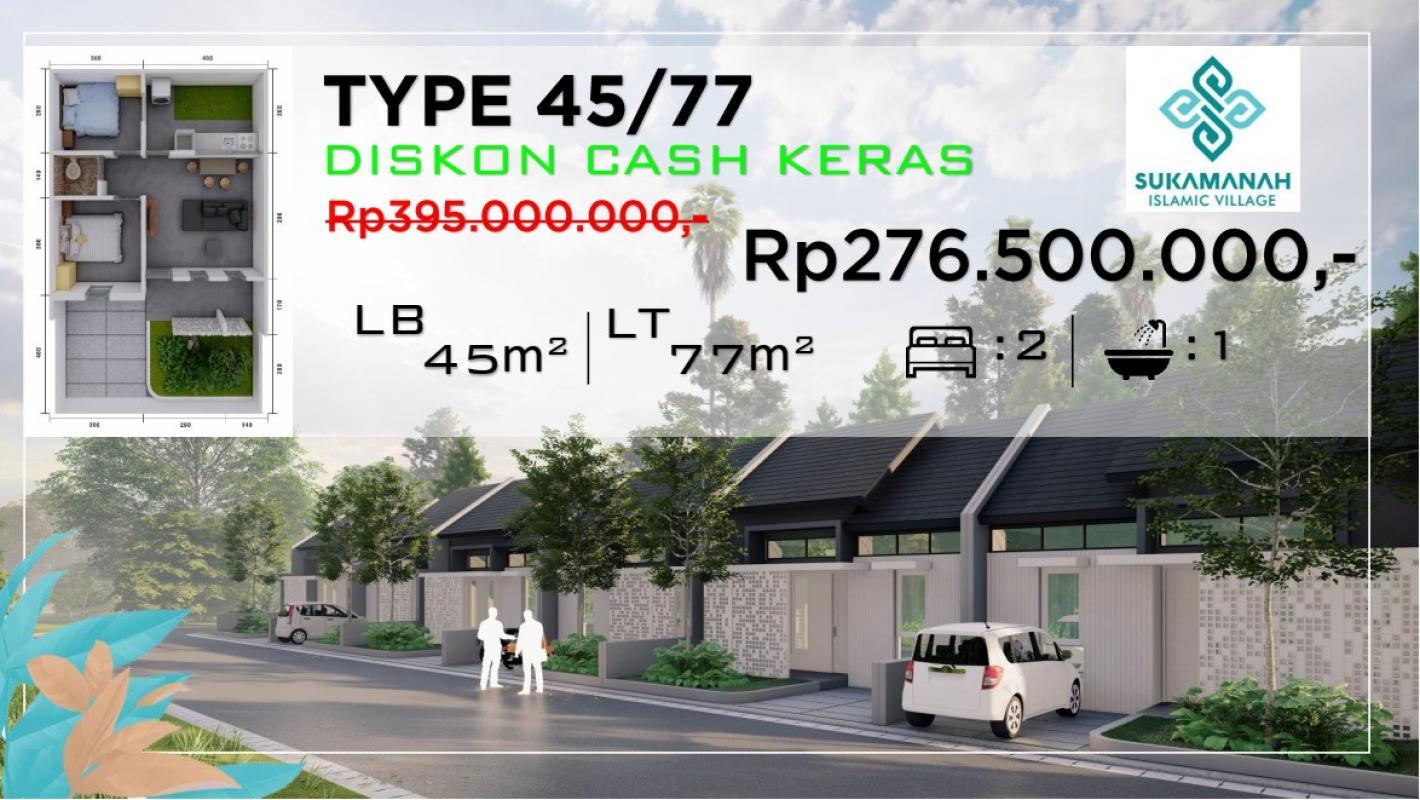 Dijual Rumah type 45/77 Sukamanah Islamic Village Purwakarta