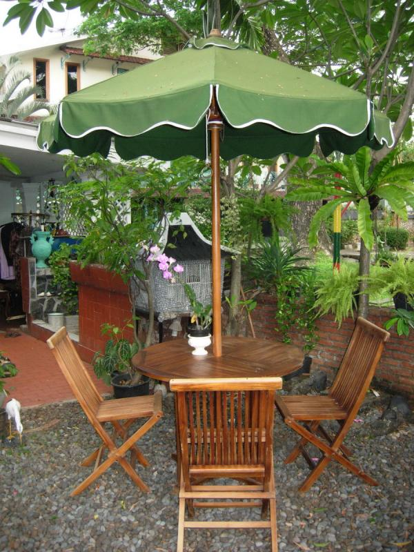 MEJA PAYUNG TAMAN (PARASOL TABLE SET) CLEARANCE SALE up to 50%!!