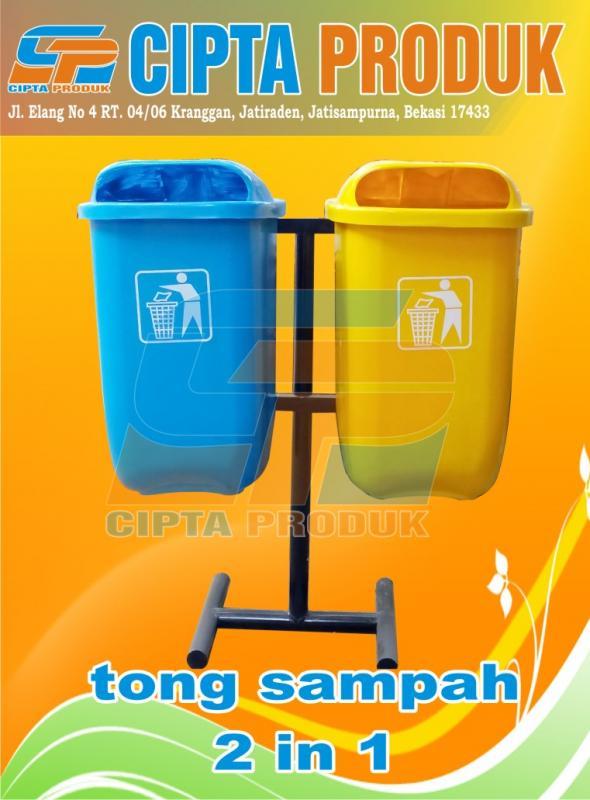 Tong sampah fiber oval 50 liter