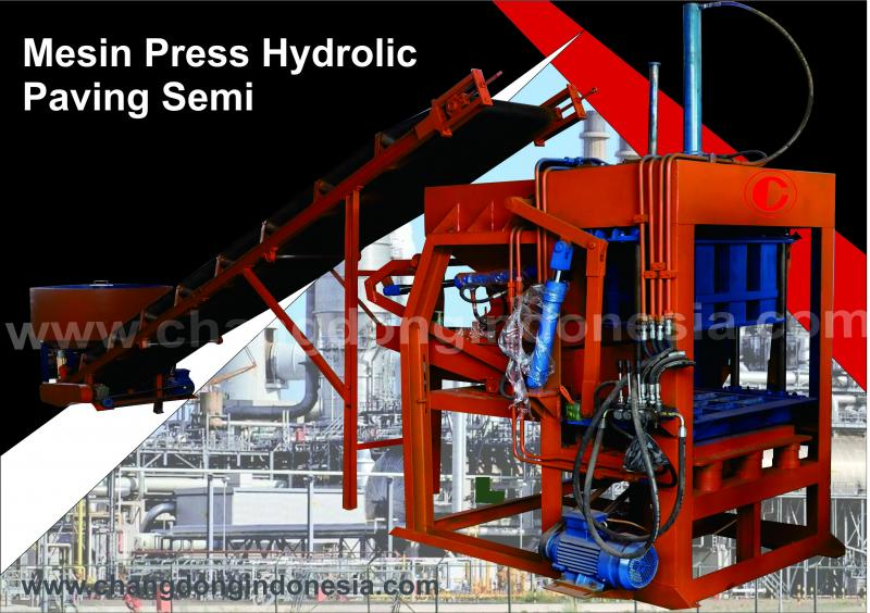 Mesin Cetak Paving Block Hydrolic Model Semi